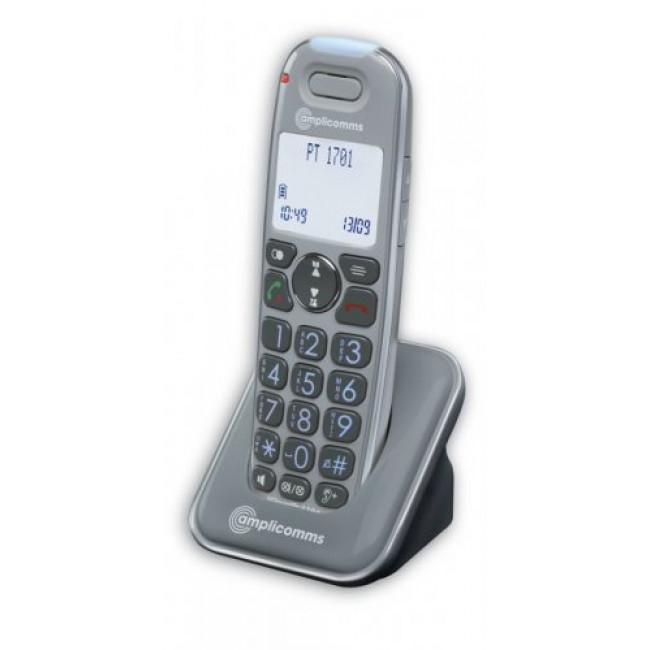Amplicomms Amplicom PowerTel 1701 DECT-telefoon Nummerherkenning Grijs